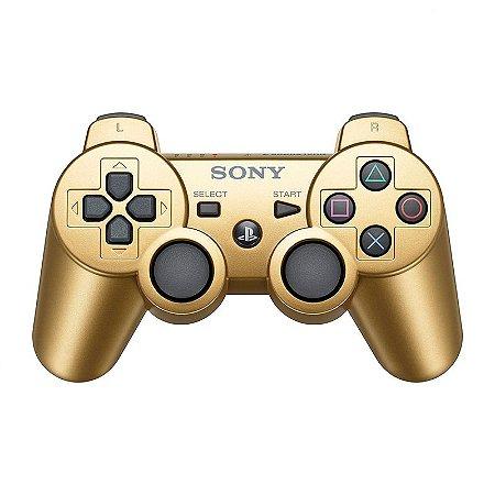 Controle Sony Dualshock 3 Dourado - PS3
