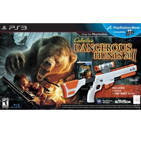 Jogo Cabela's Dangerous Hunts 2011 + Top Shot Elite - PS3
