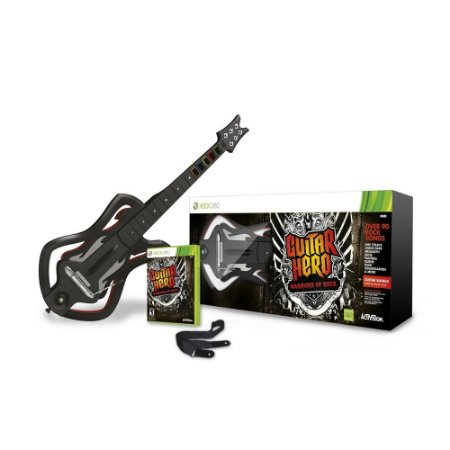 Jogo Guitar Hero Warriors of Rock + Guitarra - Xbox 360