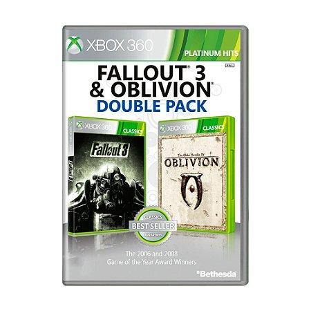 Jogo Fallout 3 + Oblivion - Xbox 360