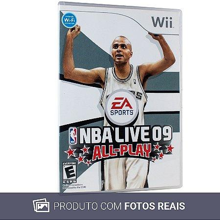 Jogo NBA Live 09: All-Play - Wii (Sem Capa)