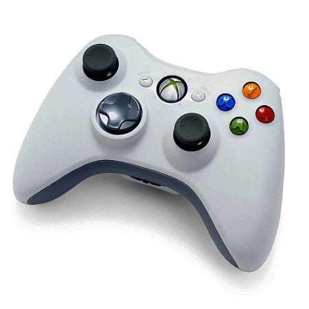Controle Microsoft Branco Sem Fio - Xbox 360