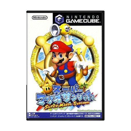 Jogo Super Mario Sunshine - GameCube (Japonês)
