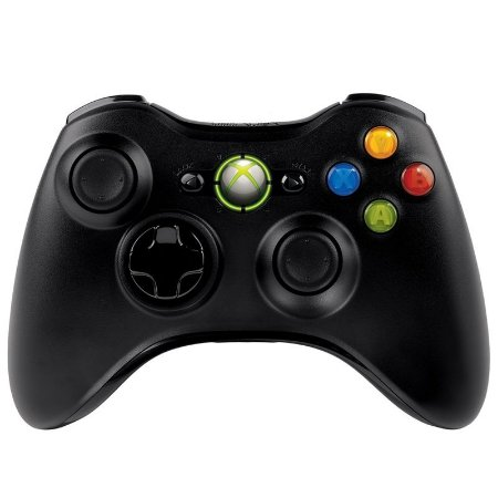 Controle Microsoft Preto Sem Fio - Xbox 360