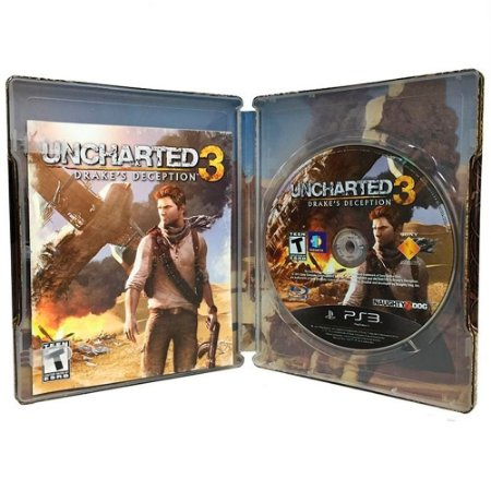 Jogo Uncharted 3: Drake's Deception - PS3 (SteelCase)