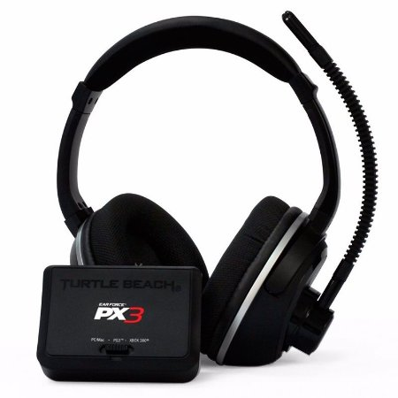 Super Headset Turtle Beach Ear Force PX3 sem fio - PS3, PC e MAC