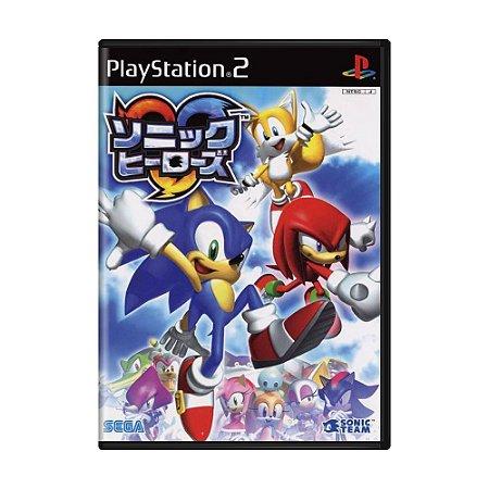 Jogo Sonic Heroes - PS2 (Japonês)