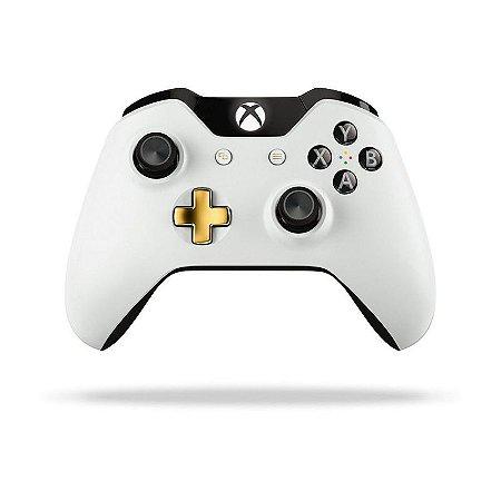 Controle Microsoft Edição Lunar White sem fio - Xbox One