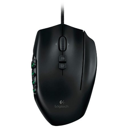 Mouse Gamer Logitech G600 Preto para MMO 8200dpi USB