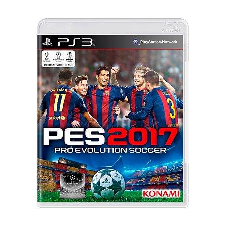 Jogo Pro Evolution Soccer 2017 (PES 17) - PS3