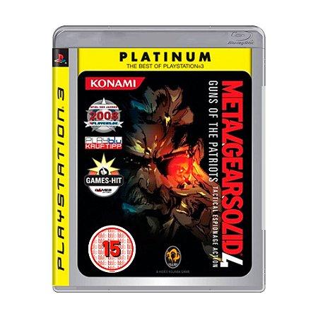 Jogo Metal Gear Solid 4: Guns of The Patriots (Tactical Espionage Action) - PS3 [Europeu]