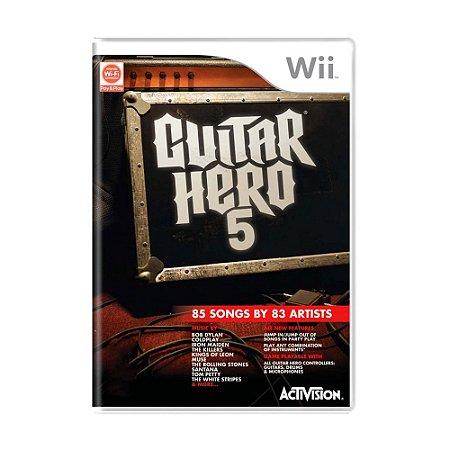Jogo Guitar Hero 5 - Wii