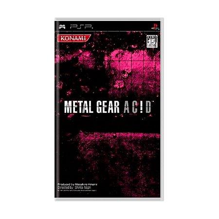 Jogo Metal Gear Acid - PSP (Japonês)