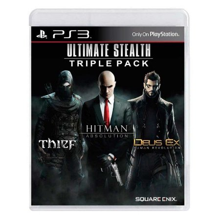 Pacote Ultimate Stealth: Thief + Hitman: Absolution + Deus Ex: Human Revolution - PS3