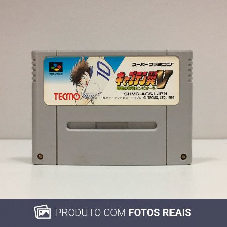 Jogo Captain Tsubasa V Hasha no Shougou Canpione - Super Famicom