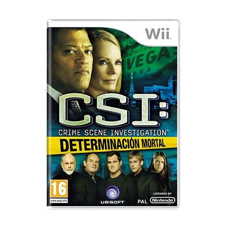 Jogo CSI: Determinación Mortal - Wii