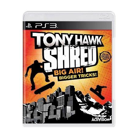 Jogo Tony Hawk Shred: Big Air! Bigger Tricks! - PS3