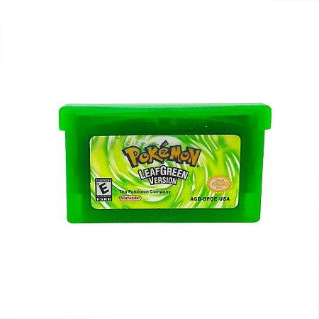 Jogo Pokémon Leaf Green Version - GBA Game Boy Advance