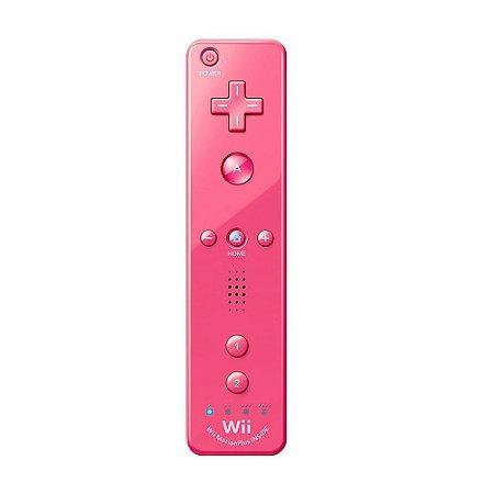 Controle Nintendo Wii Remote Plus Rosa - Wii