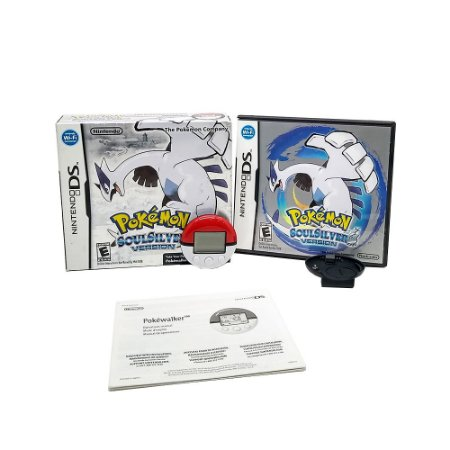 Jogo Pokémon Soul Silver Version + Pokéwalker - DS
