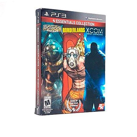 Jogo Bioshock + Borderlands + Xcom Enemy Unknown (2K Essentials Collection) - PS3