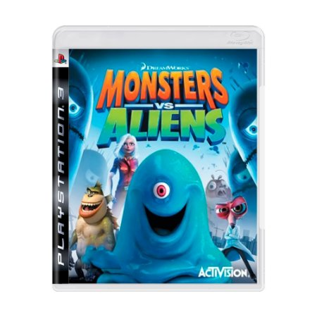 Jogo Monsters vs Aliens - PS3