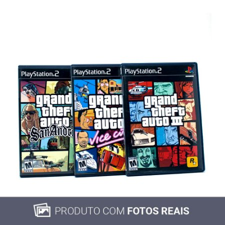Jogos Grand Theft Auto: The Trilogy - PS2