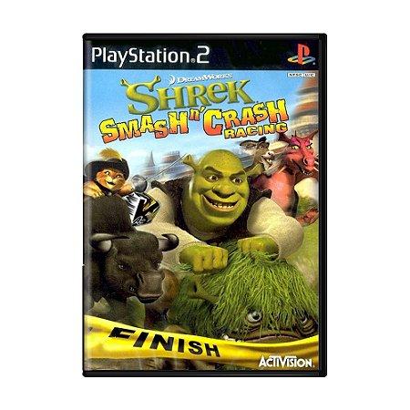 Jogo Shrek Smash n' Crash Racing - PS2