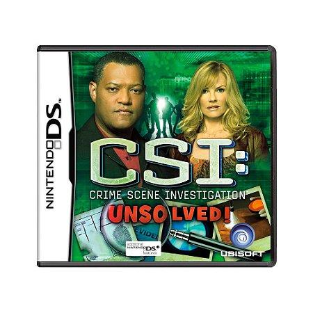 Jogo CSI: Unsolved! - DS