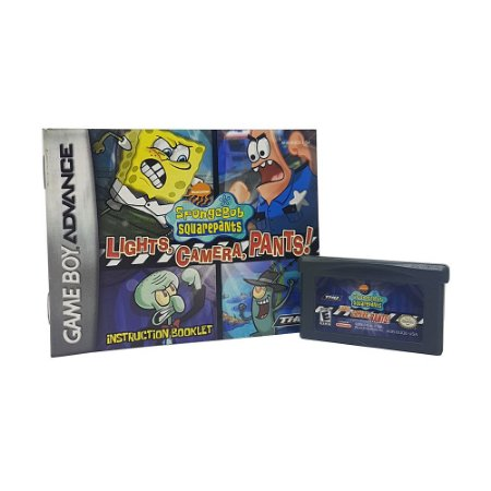 Jogo SpongeBob Squarepants: lights, camera, pants! - GBA Game Boy Advance