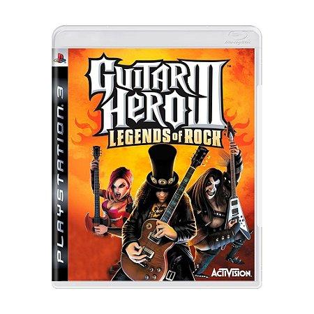 Jogo Guitar Hero III: Legends of Rock - PS3
