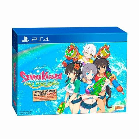 Jogo Senran Kagura: Peach Beach Splash (No Shirt, No Shoes, All Service Edition) - PS4