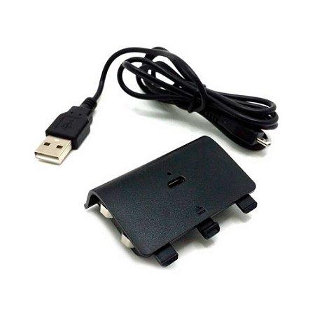 Bateria e carregador para controle Battery Pack 2400mAh OEM - Xbox One