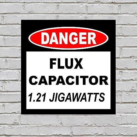 Placa de Parede Decorativa: Capacitor de Fluxo