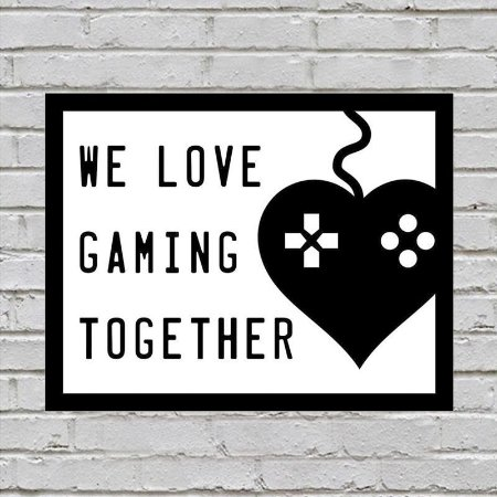 Placa De Parede Decorativa: We Love Gaming Together