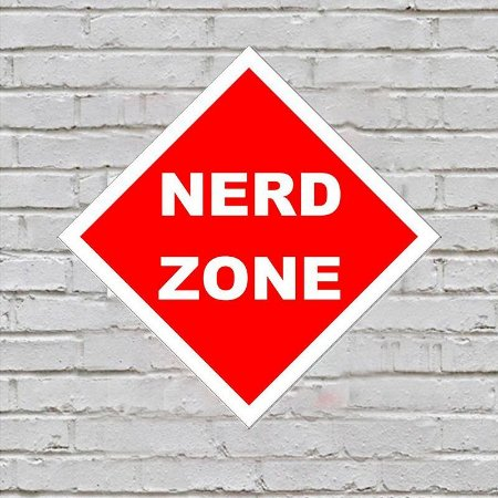 Placa de Parede Decorativa: Nerd Zone