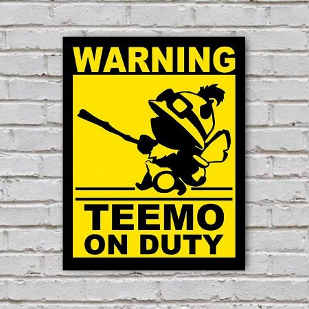Placa de Parede Decorativa: Teemo On Duty