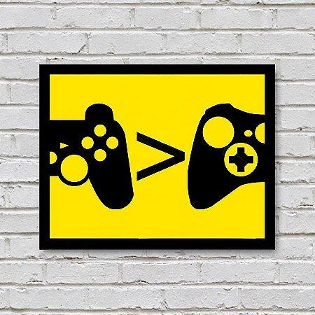 Placa de Parede Decorativa: PlayStation > Xbox
