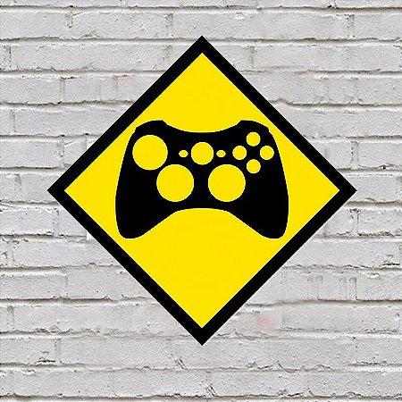 Placa de Parede Decorativa: Controle Xbox