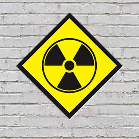 Placa de Parede Decorativa: Radioactive