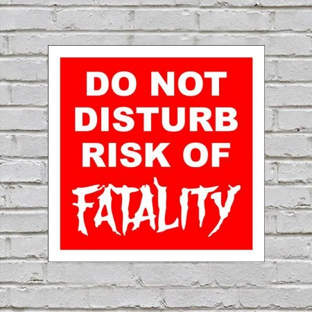 Placa de Parede Decorativa: Risk of Fatality - ShopB