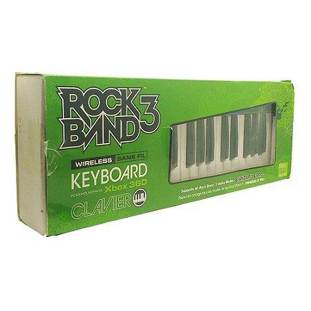 Teclado Clavier Rock Band 3 sem Fio - Xbox 360