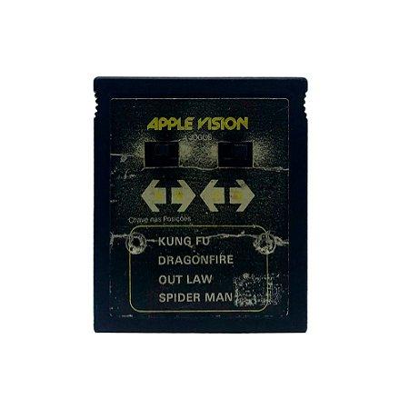 Jogo Apple Vision 4 em 1 (Kung Fu, Dragonfire, Out Law e Spider Man) - Atari