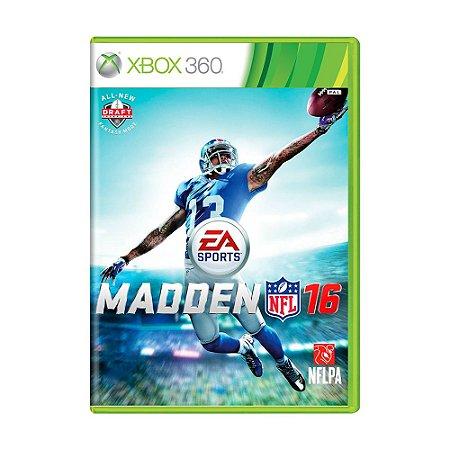 Jogo Madden NFL 16 - Xbox 360