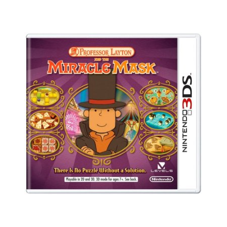 Jogo Professor Layton and the Miracle Mask - 3DS
