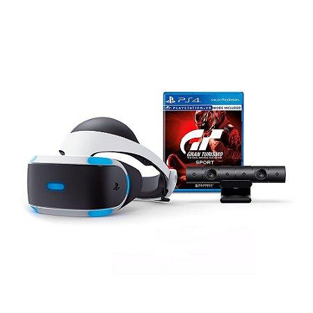 PlayStation VR Bundle + Jogo Gran Turismo Sport - PS4 VR