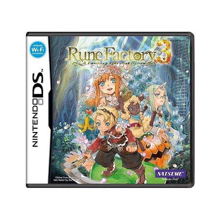 Jogo Rune Factory 3: A Fantasy Harvest Moon - DS