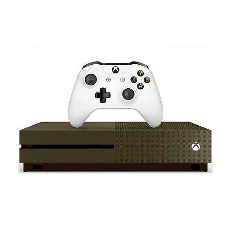 Console Xbox One S 1TB Verde Militar - Microsoft