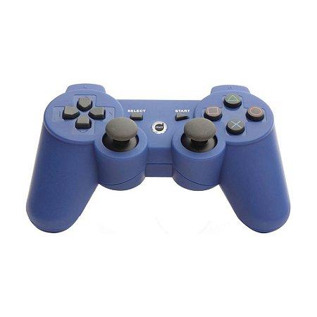 Controle Dazz Dualshock Bluetooth Sem Fio Azul - PS3