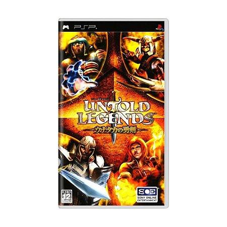 Jogo Untold Legends: Brotherhood of the Blade - PSP (Japonês)